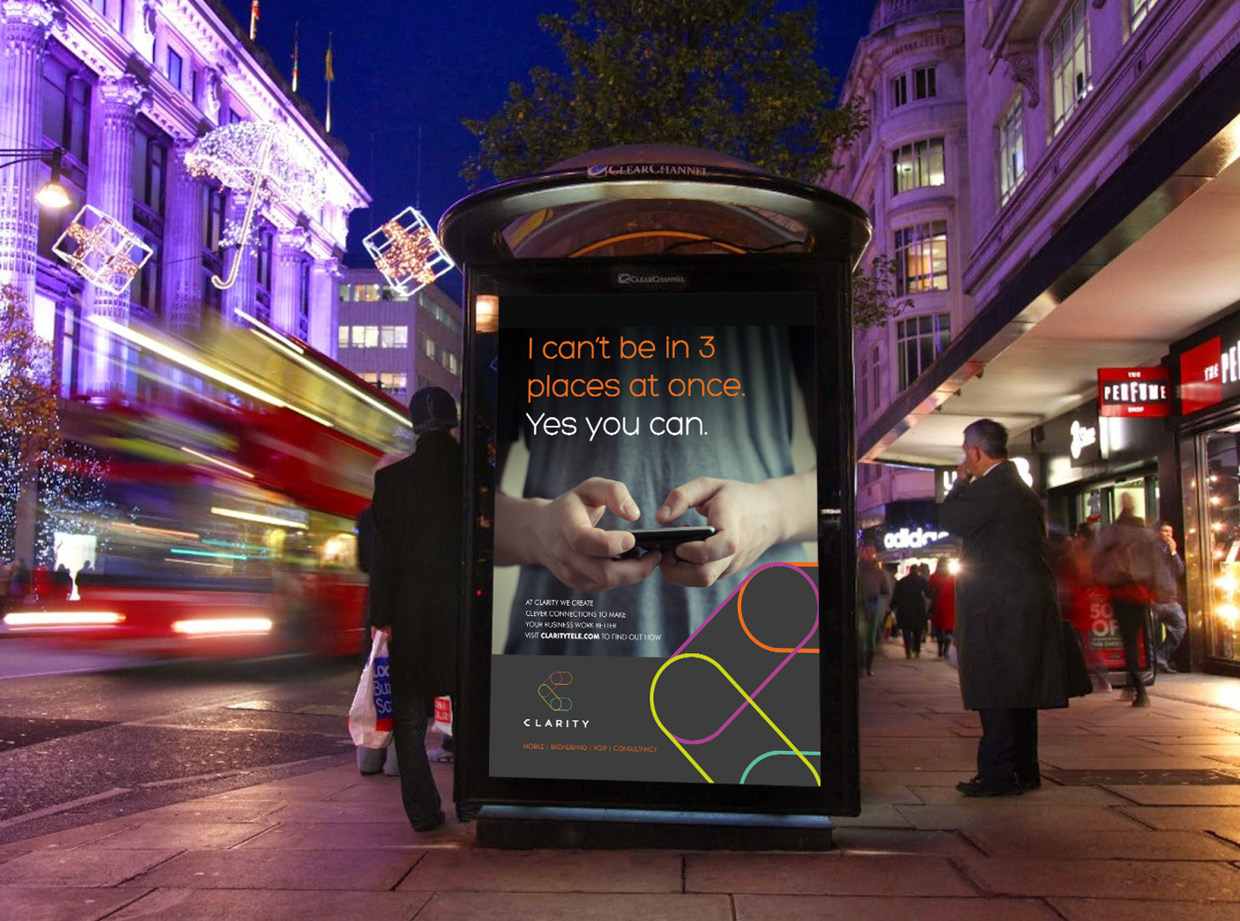 Clarity Large Format Bus Stop Poster Design