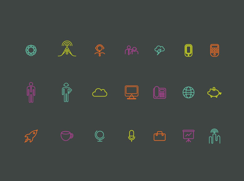 Clarity alternative icon design