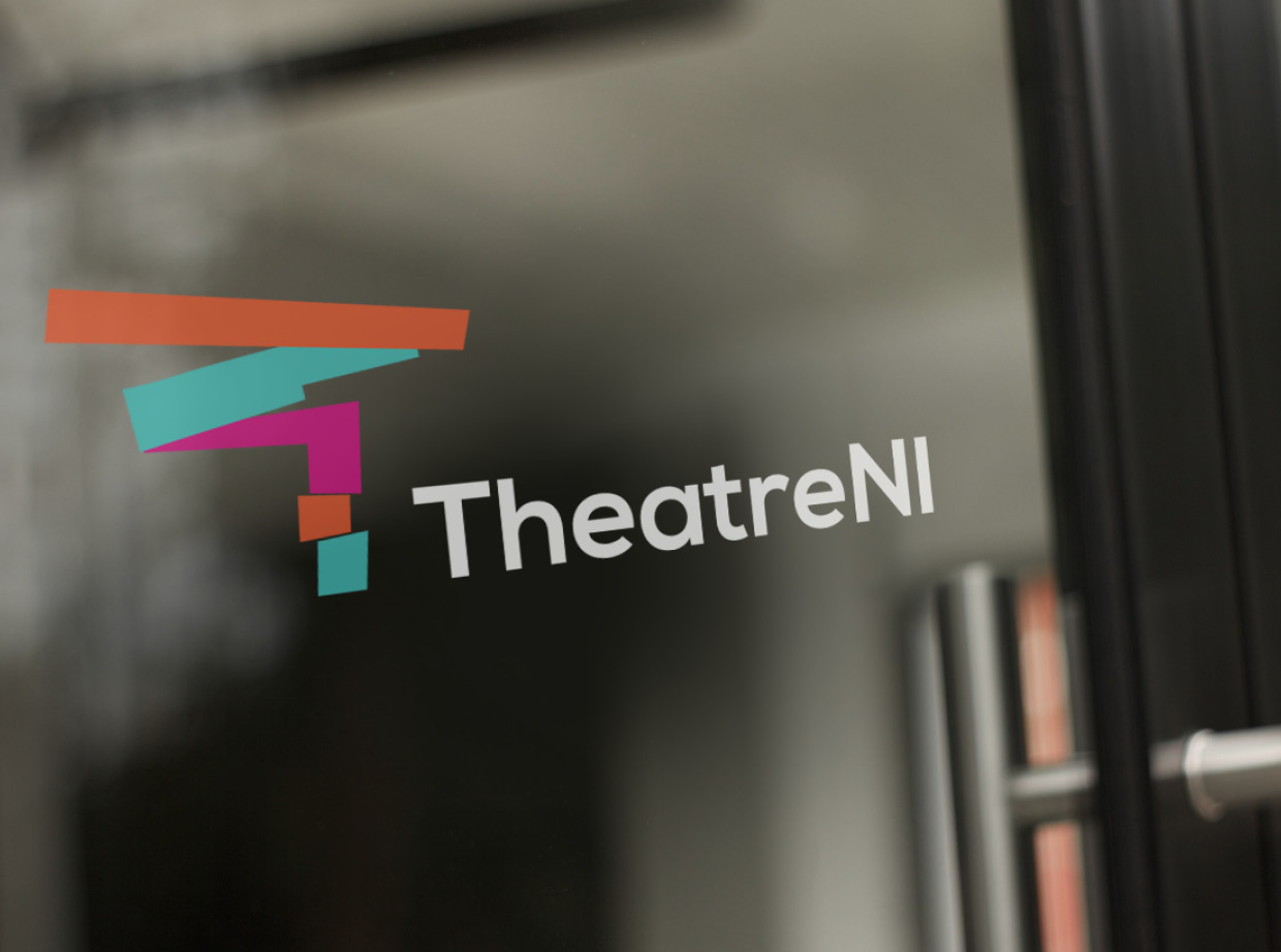 TheatreNI Logo Design on Glass